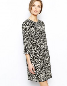 Asos shift dress in animal print