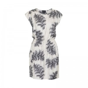 Stella Nova dress with feather print round neck