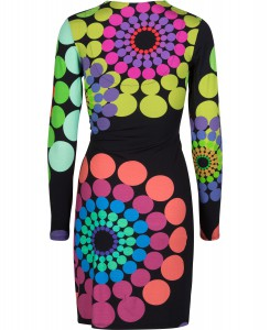 Desigual - black dress with colourful dots 02