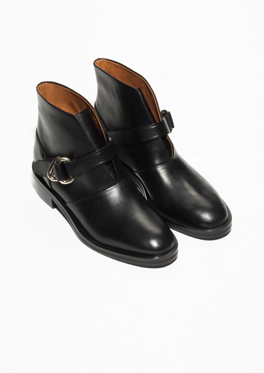 other stories buckle ankle boots dresscodes