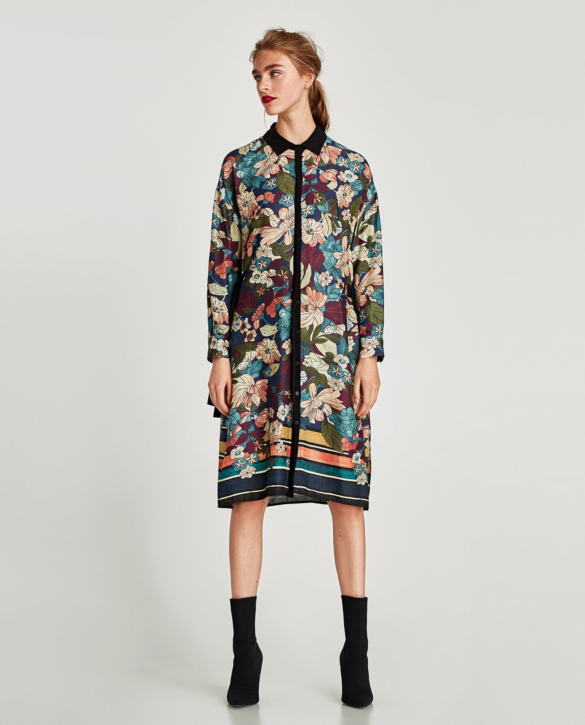 df4276a66d9 Zara - floral tunic with contrasting bows - Dresscodes