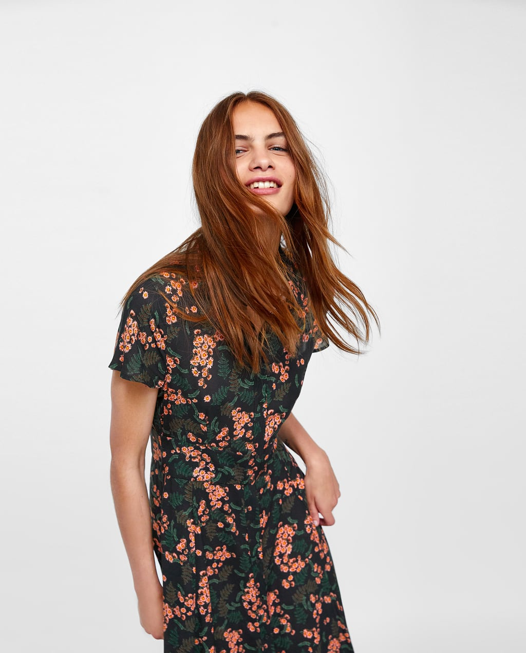 Zara Printed T Shirt With Uneven Hem Bcd Tofu House