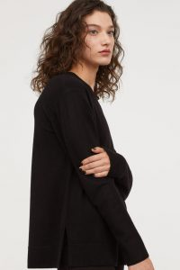 H&M Premium Quality - black cashmere sweater
