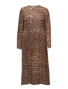 Samsoe Samsoe - Raven silk dress with leo print