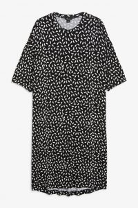 Monki - oversized t-shirt dress with leaf print