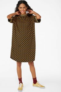 Monki - sporty t-shirt dress with tiger print