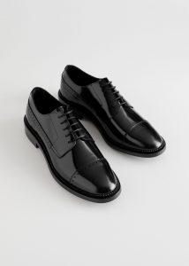 Other Stories - black leather Oxfords