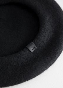 Other Stories - black wool beret