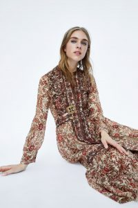 Zara - printed dress with embroidery