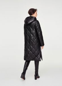 Uterque - quilted nappa leather coat