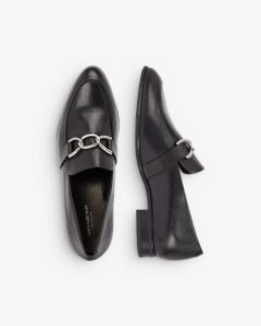 Vagabond - black Frances loafer with chain