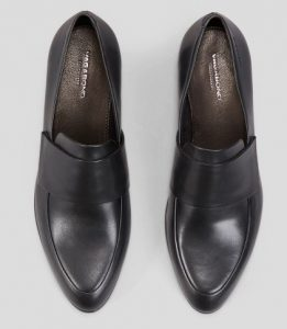 Vagabond - black leather Frances loafer