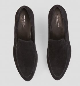 Vagabond Frances black suede loafer