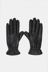 Zara - black leather gloves