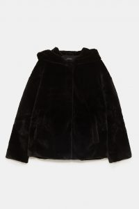 Zara - hooded faux fur jacket