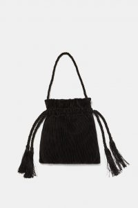 Zara - pleated crossbody bucket bag