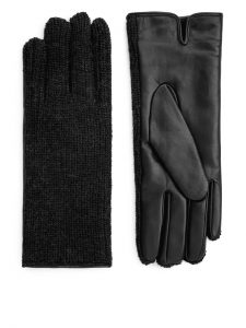 Arket - alpaca and leather gloves