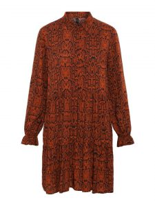 Y.A.S. - Bombay brown snakeprinted shirt dress