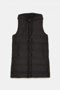 Zara - padded gilet with hood