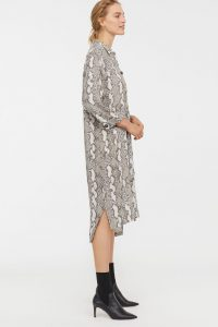 H&M - snake printed shirt dress