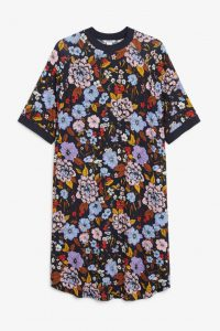 Monki - floral t-shirt dress