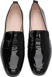Gardenia - black patent Cypress Charol loafers