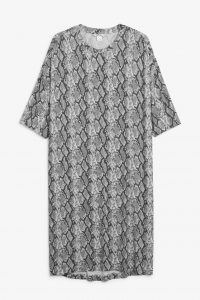 Monki - snake printed jersey dress
