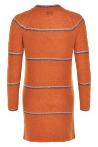 Noa Noa - orange knitted dress with stripes