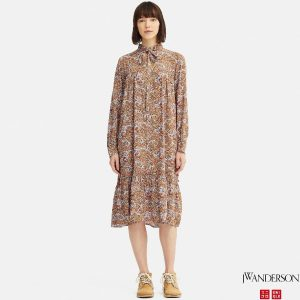 Uniqlo x JW Anderson - gathered dress with paisley print