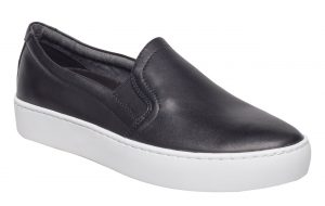 Vagabond - black leather Zoe slip-on sneakers