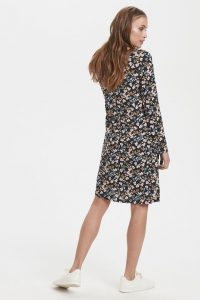 Ichi - dark navy flower dress