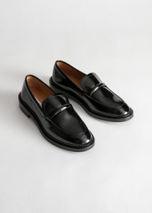 Other Stories - black penny leather loafers