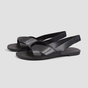 Vagabond Tia - black leather sandals 1
