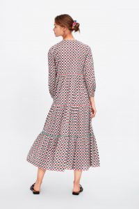 Zara - geometric print dress