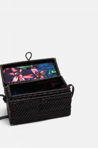 Zara - Black crossbody minaudiere