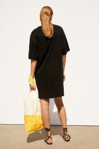 Zara - black t-shirt dress with front logo