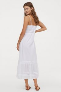 HM - white summer dress with lace detail