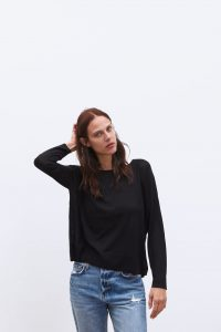 Zara - black basic sweater