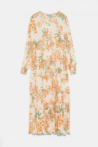 Zara - dress with orange floral print