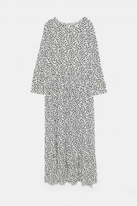 Zara - white dotted midi dress