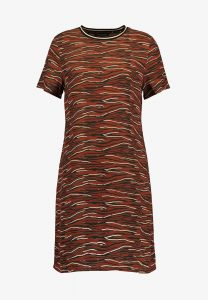 One More Story - sporty animal printed t-shirt dress