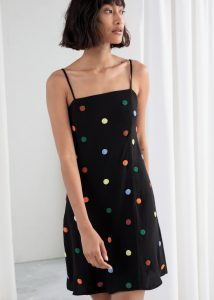 & Other Stories - beaded polka dot mini dress