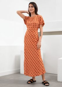 & Other Stories - short sleeved printed maxi dress