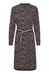 Saint Tropez - black floral shirt dress