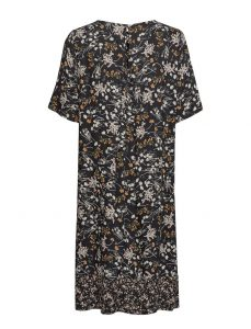 Saint Tropez - black summer dress with floral print