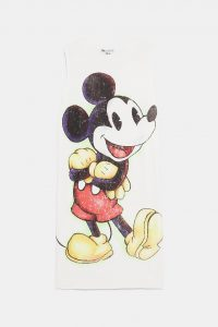 Zara - white t-shirt dress with Mickey Mouse
