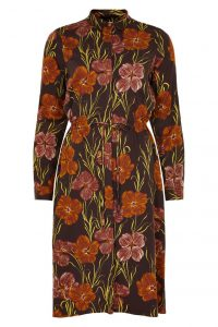 Nümph - brown shirt dress with floral print