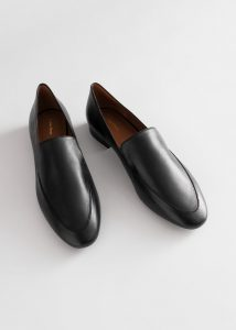 Other Stories - smooth leather classic loafers