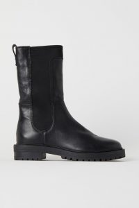 H&M - black Premium Quality leather boots