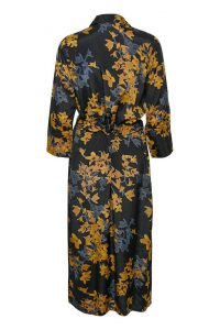 Kaffe - black shirt dress with yellow flowers